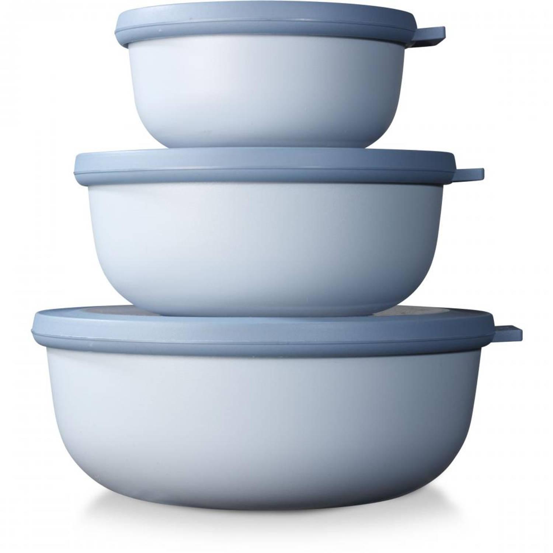 Mepal Cirqula vershouddozen set 350/750/1250 - nordic blue