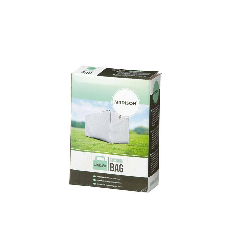 Luxe opbertas voor tuinkussens grijs 125x50x32