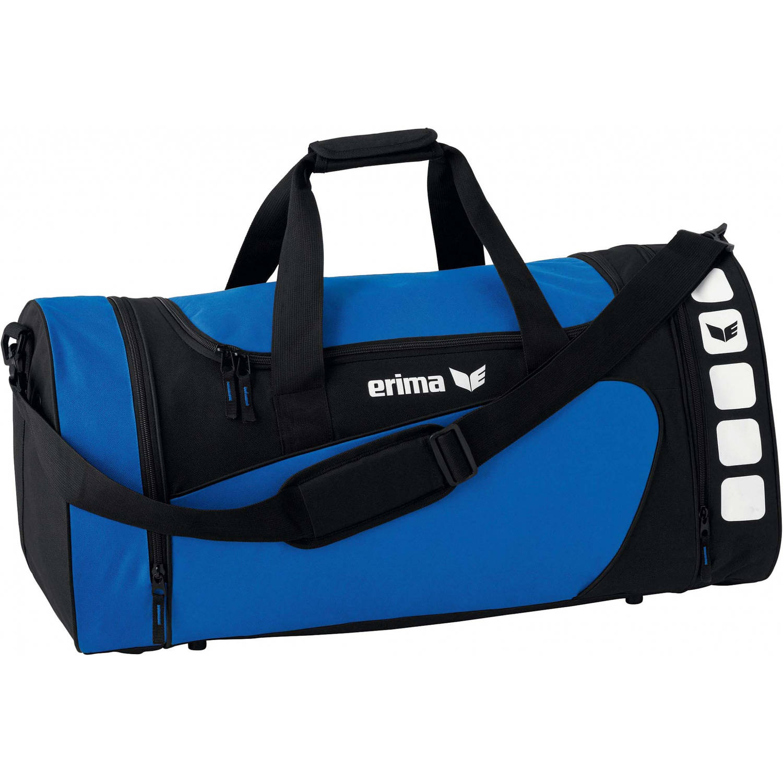Erima sporttas Club 5 Line blauw zwart 495 liter