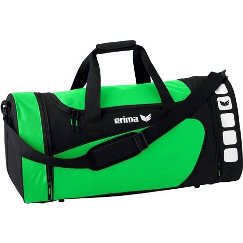 Erima sporttas Club 5 Line groen zwart 28 liter