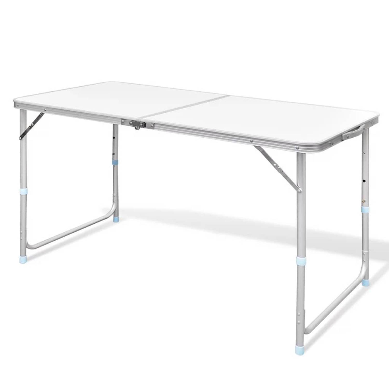Campingtafel inklapbaar en verstelbaar in hoogte aluminium 120 x 60 cm