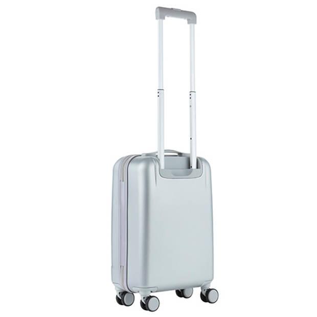 CarryOn Skyhopper Handbagage Koffer 55cm TSA-slot Okoban Registratie Zilver