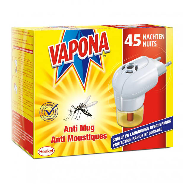 Vapona anti-mug stekker + 2 navullingen