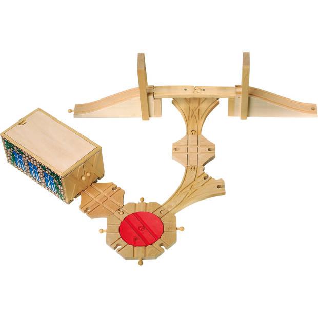 Small Foot houten spoorwegset 8-delig