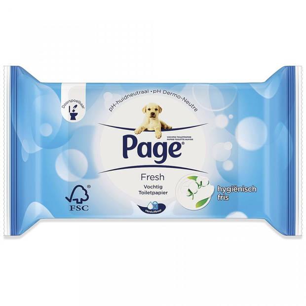 Page vochtig wc-papier - fresh navulling