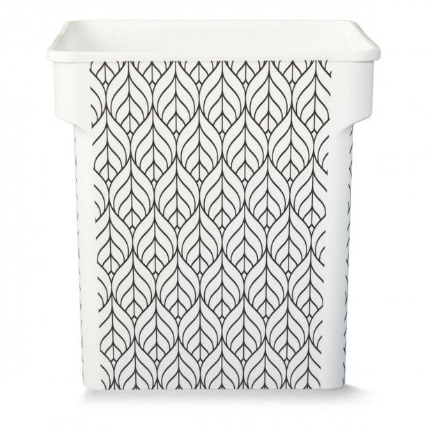 Iris Inner box - leaf pattern design - 31,5 l - wit