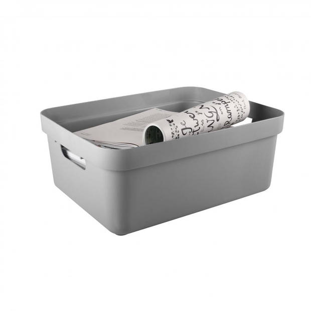 Sunware Sigma Home opbergbox - 24 liter - lichtgrijs