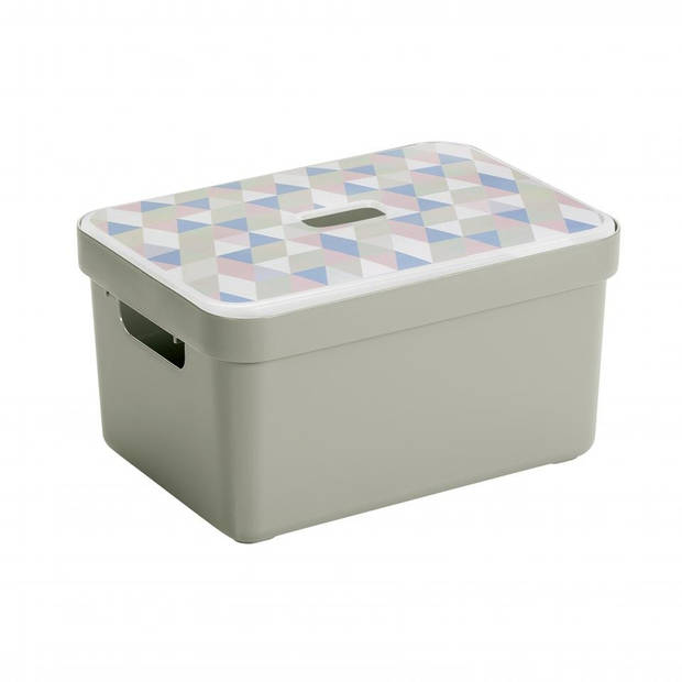 Sunware Sigma home opbergbox 13 liter - lichtgroen