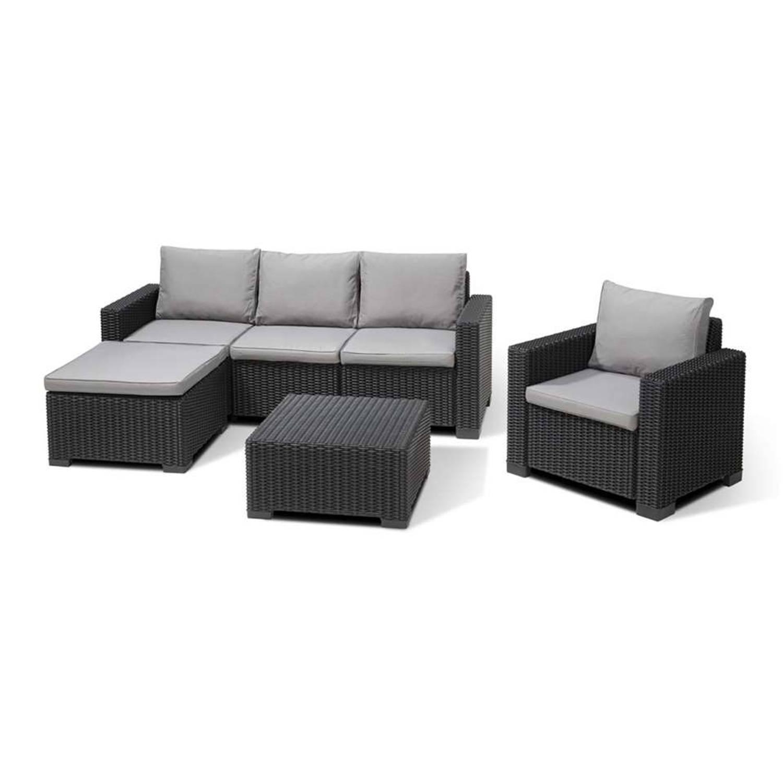 allibert loungeset moorea 4 delig grafiet blokker. Black Bedroom Furniture Sets. Home Design Ideas