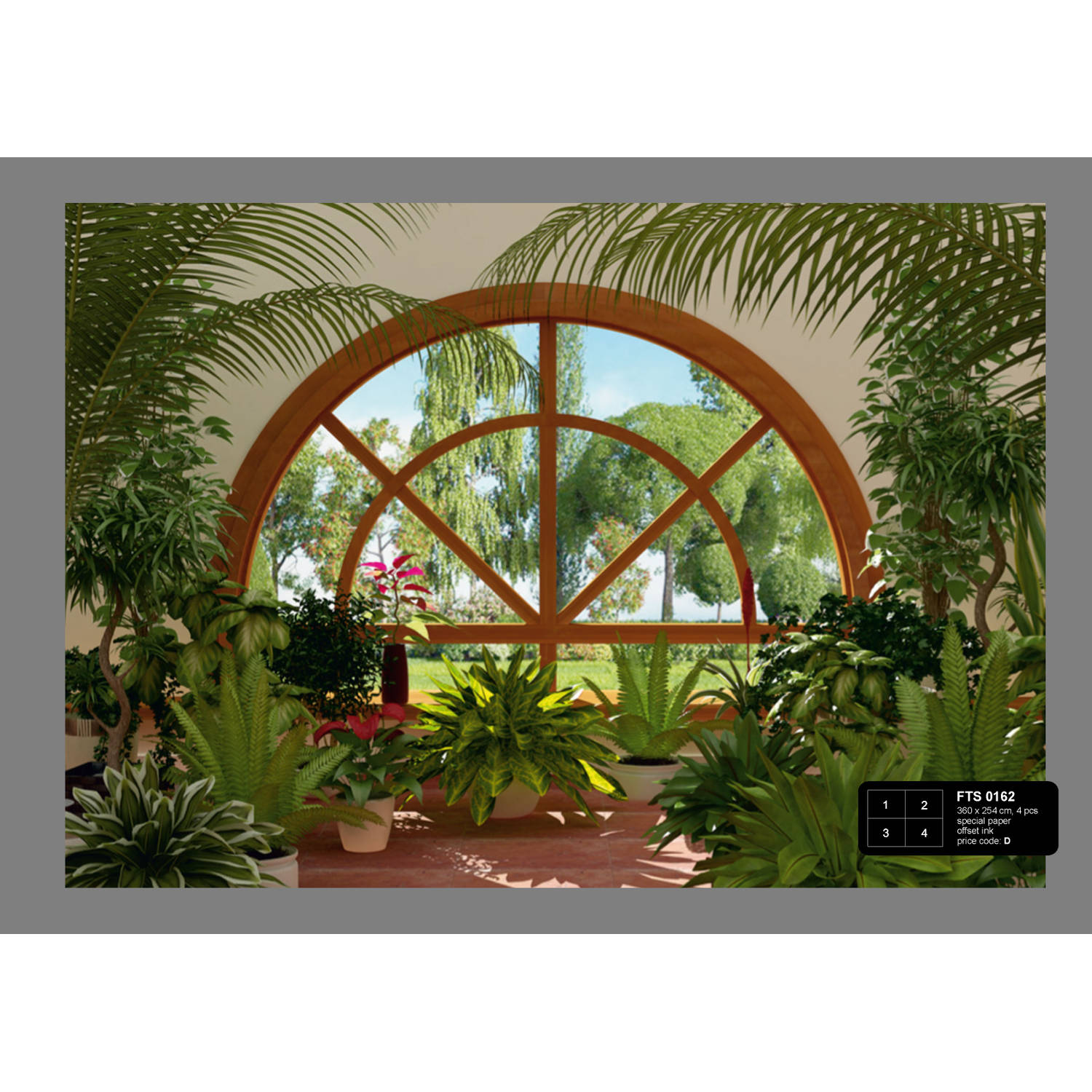 Winter Garden Fotobehang 4D (AG Design)