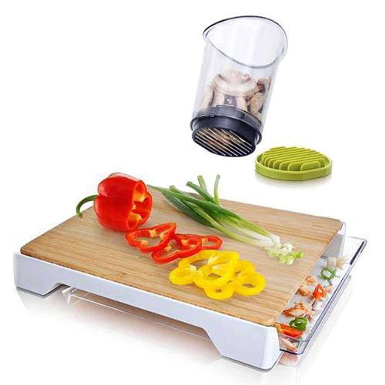 Snijplank met afvallade met gratis de Slice & Catch - Tomorrow's Kitchen
