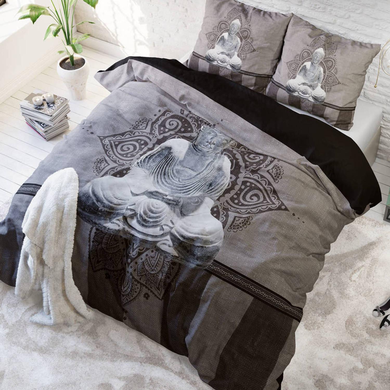 Sleeptime Dekbedovertrek Buddha Love Antraciet-240x200/220 | Blokker