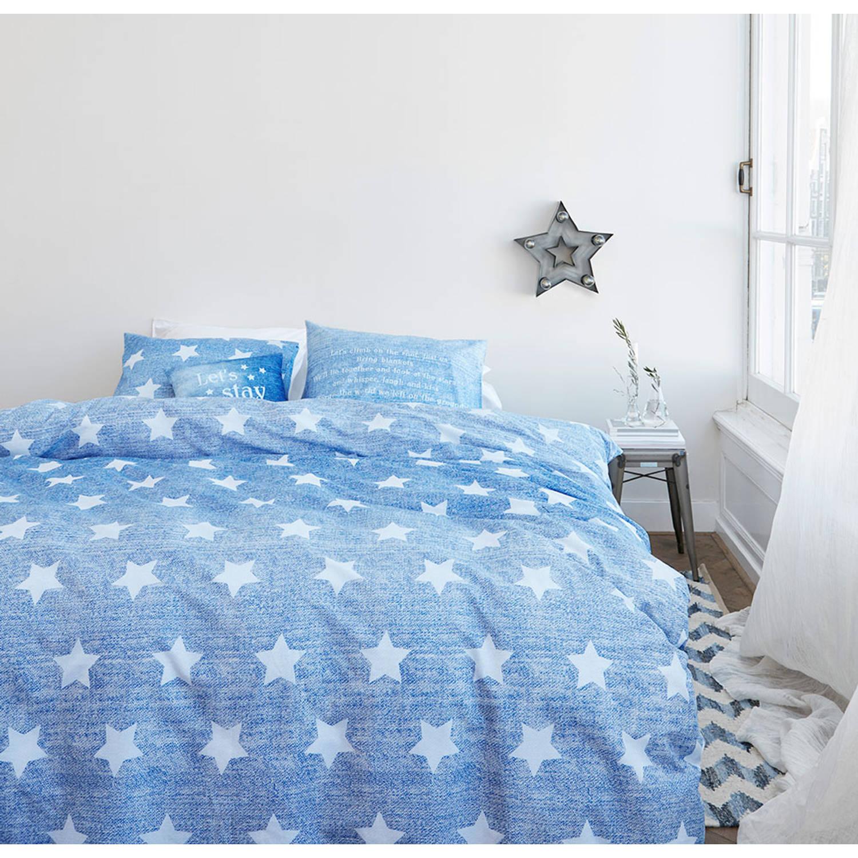 Afbeelding van At Home With Marieke Dekbedovertek Starry Sky Blue-200x200/220
