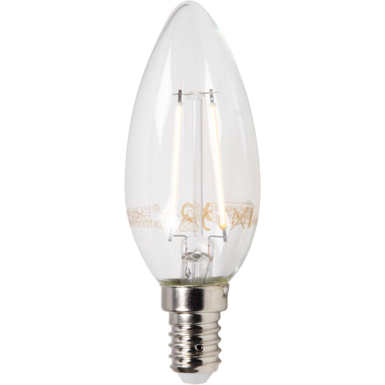 LED kaars E14 2 Watt filament mat XQ1402