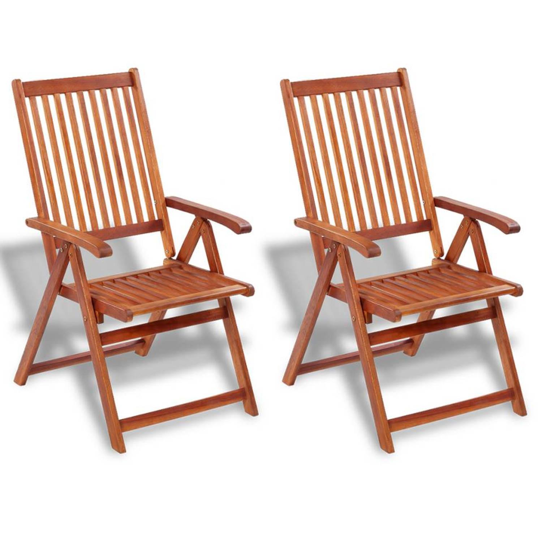 Vidaxl stoelen voor buiten 2 stuks acaciahout blokker for Stoelen voor buiten