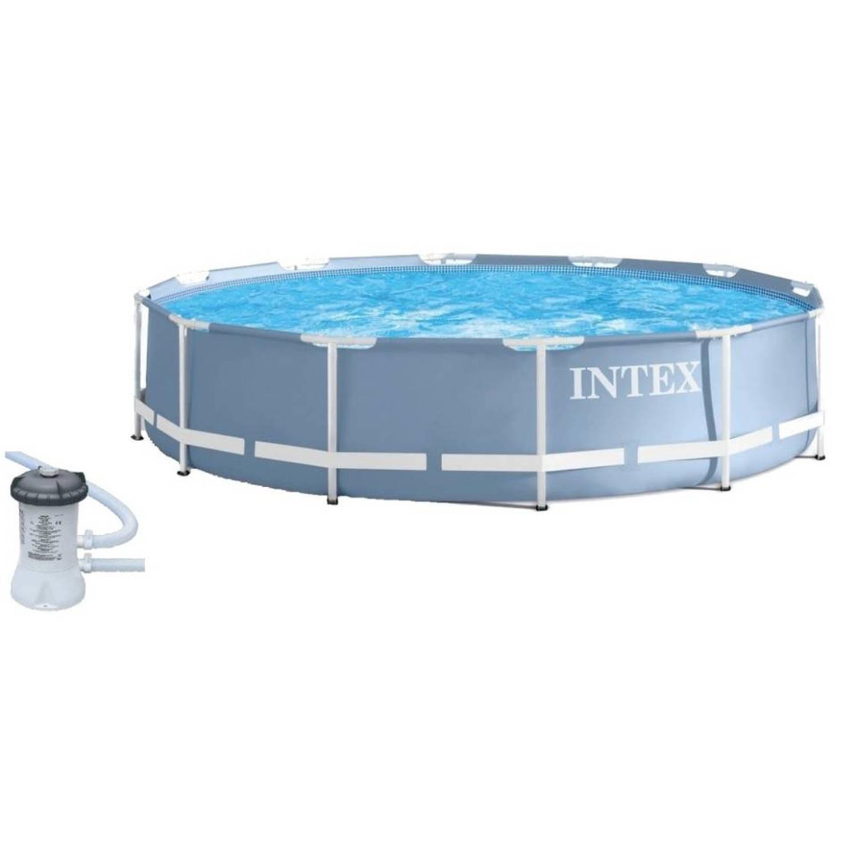 Intex Prism Frame Opzetzwembad Met Filterpomp 366 X 76 Cm