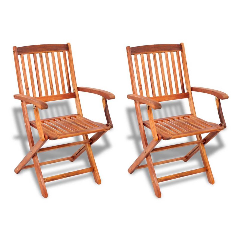 Vidaxl stoelen voor buiten acaciahout 2 st blokker for Stoelen voor buiten