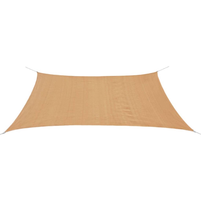 vidaXL Zonnescherm HDPE rechthoekig 2x4 m beige
