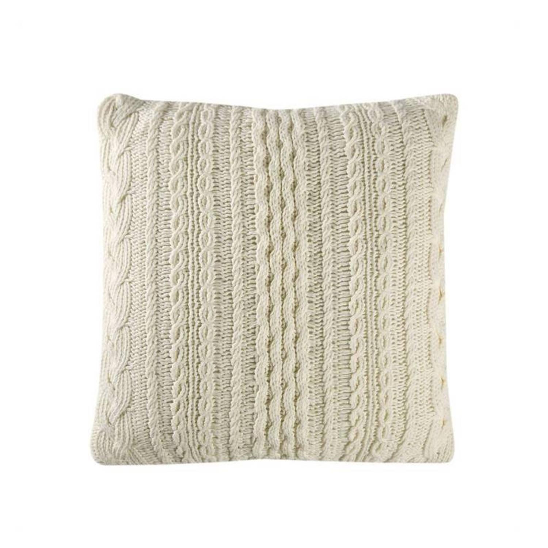 Cinderella Chamonix kussenhoes - 100% katoen - 45x45 cm - Wit, Wool white