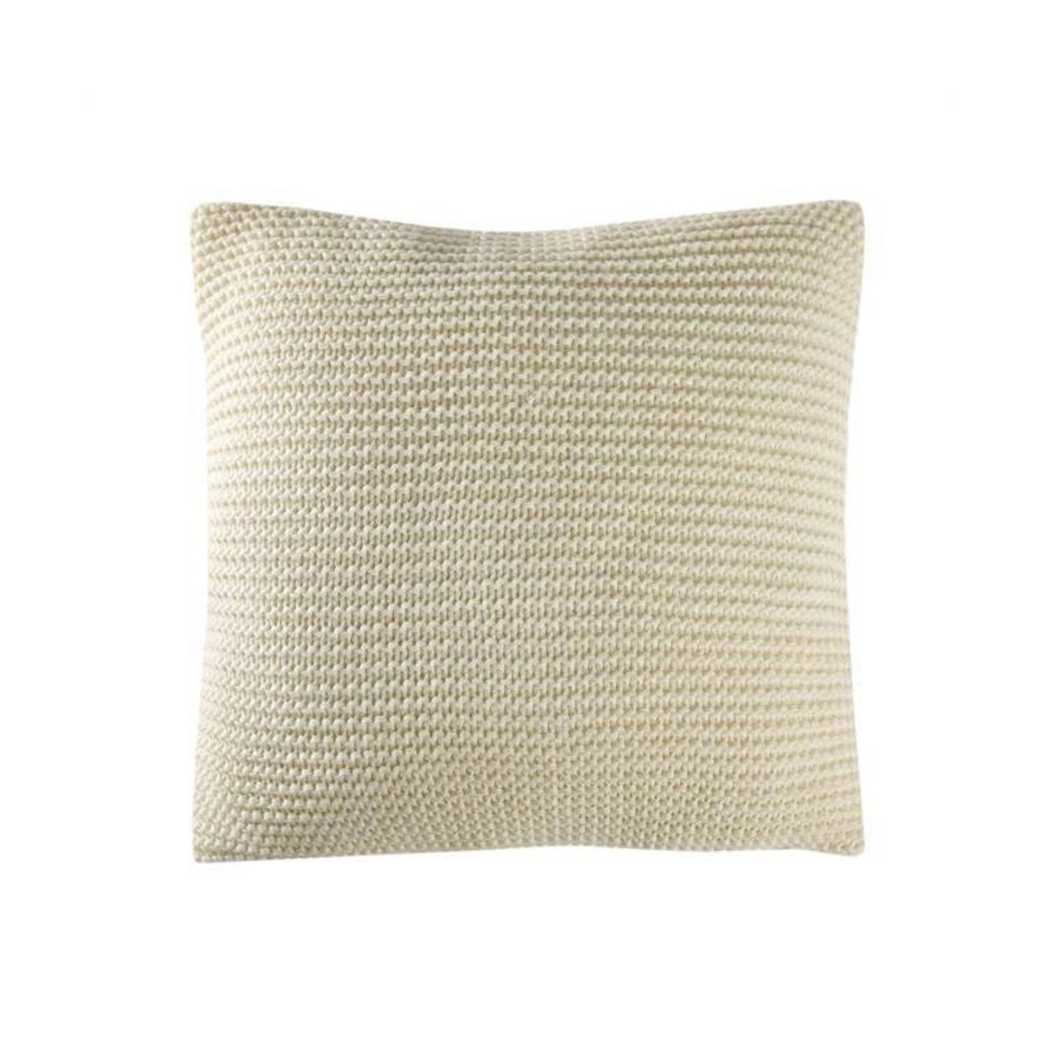 Damai Vancouver kussenhoes - 100% acryl - 45x45 cm - Wit, Wool white