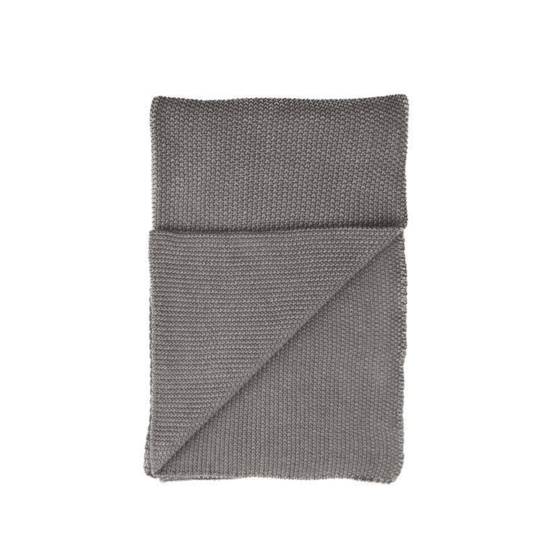 Walra Bauke plaid - 100% katoen - 130x180 cm - Grijs