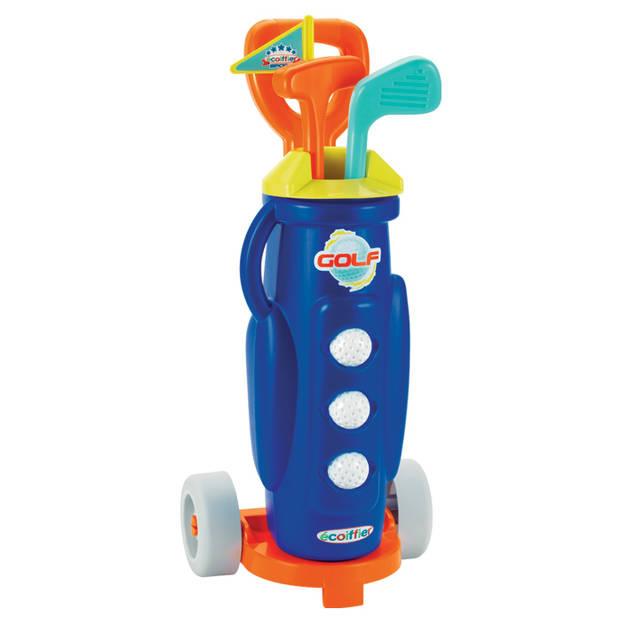 écoiffier golfset met trolley 57 cm 7-delig