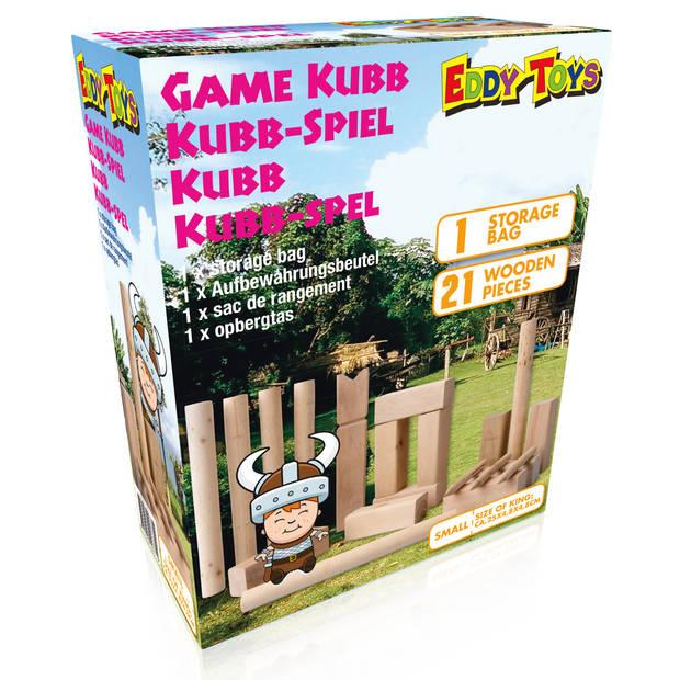 Eddy Toys Kubb-Spel - Hout - met Opbergzak - Small