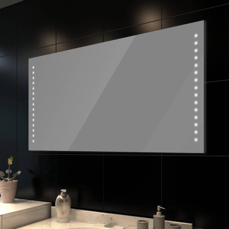 vidaxl badkamerspiegel met leds 100x60 cm blokker. Black Bedroom Furniture Sets. Home Design Ideas
