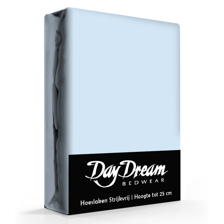 Day dream hoeslaken katoen licht blauw-90 x 200 cm