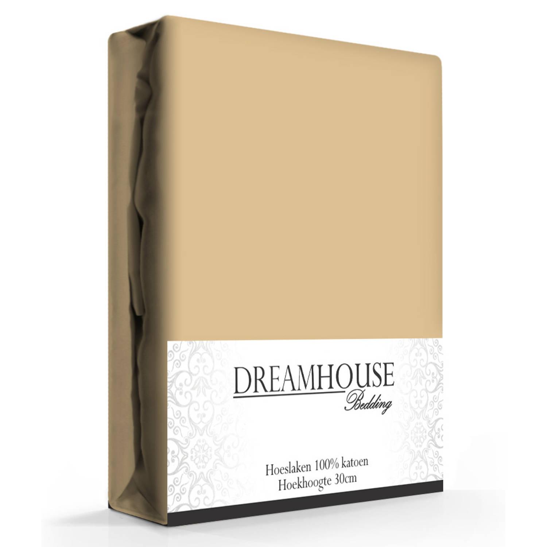 Dreamhouse Hoeslaken Katoen Taupe-140 x 200 cm