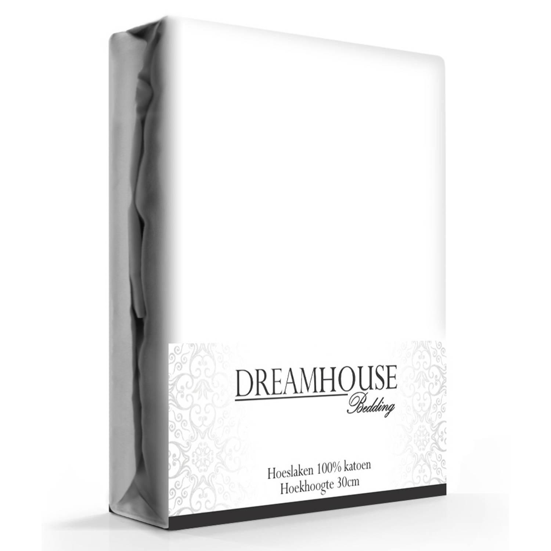Dreamhouse Hoeslaken Katoen Wit-160 x 220 cm
