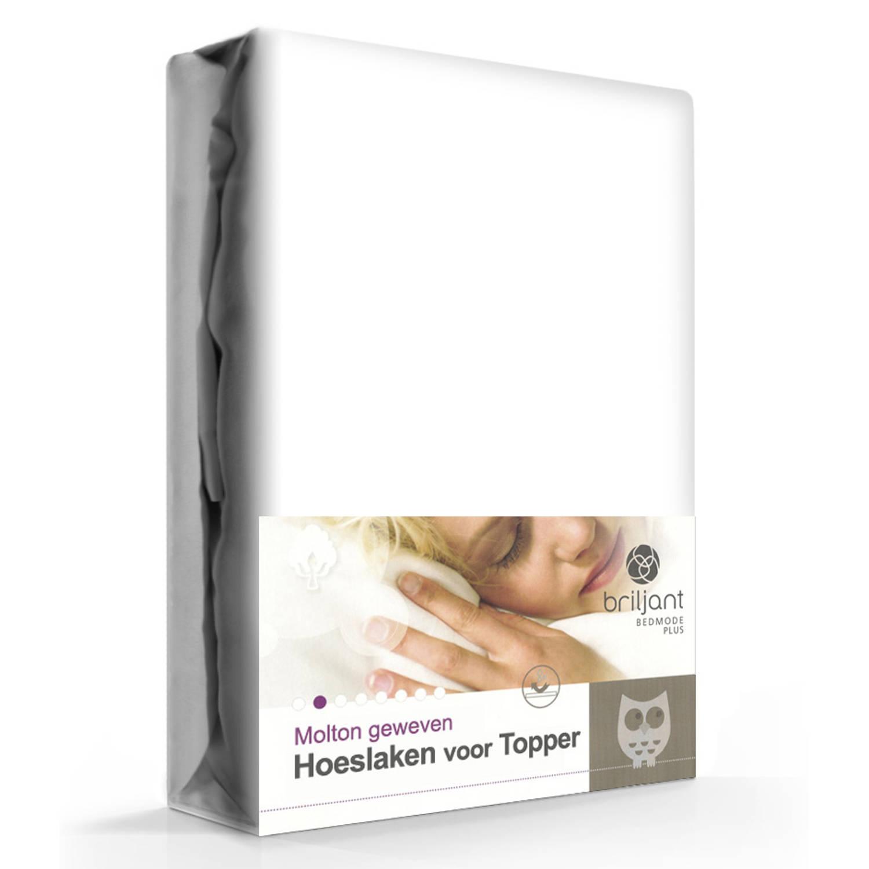 Topper Hoeslaken 80x200.Molton Katoen Topper Hoeslaken 80 X 200 Cm Blokker