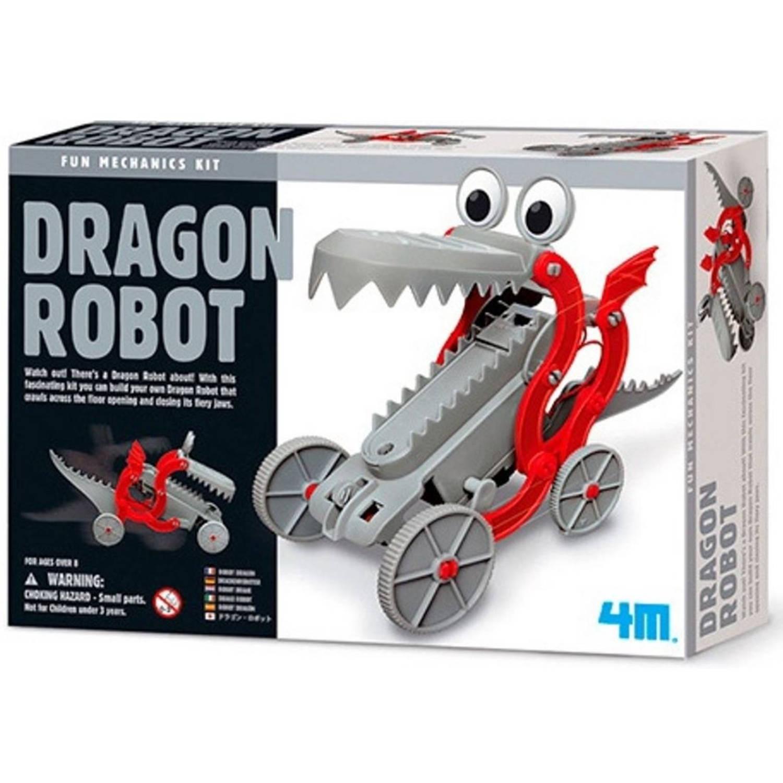 Afbeelding van 4M Fun Mechanics Kit: robotdraak bouwpakket