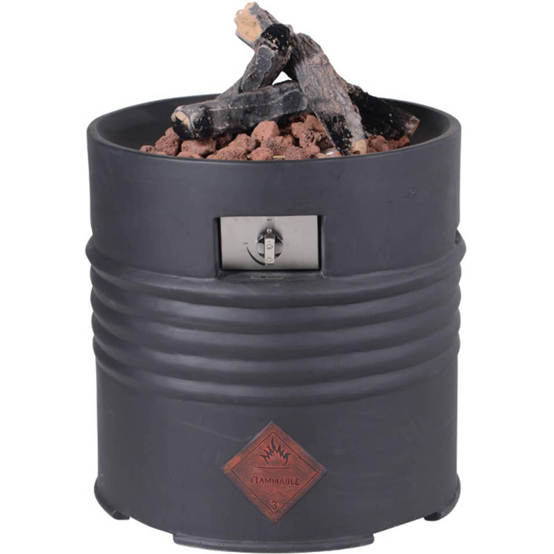 Cozy Living sfeerhaard Barrel zwart - Ø60xH62 cm