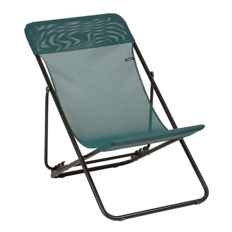lafuma strandstoel maxi transat groen blokker. Black Bedroom Furniture Sets. Home Design Ideas