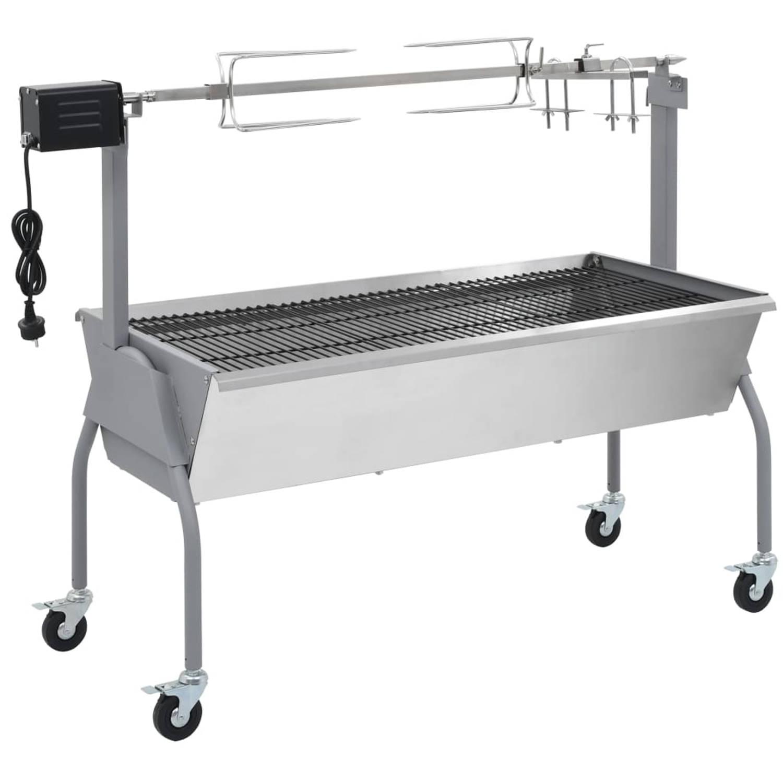 vidaXL Draaispit barbecue met elektrische motor