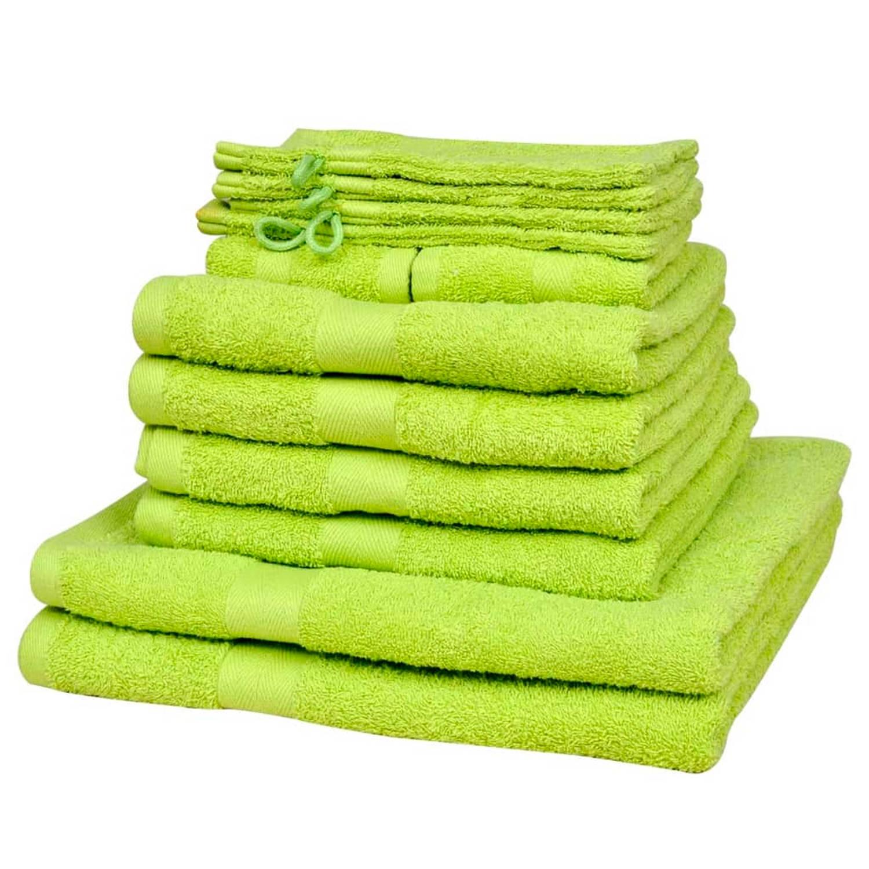 Handdoek 100% katoen 500 g/m2 appeltjesgroen 12 st