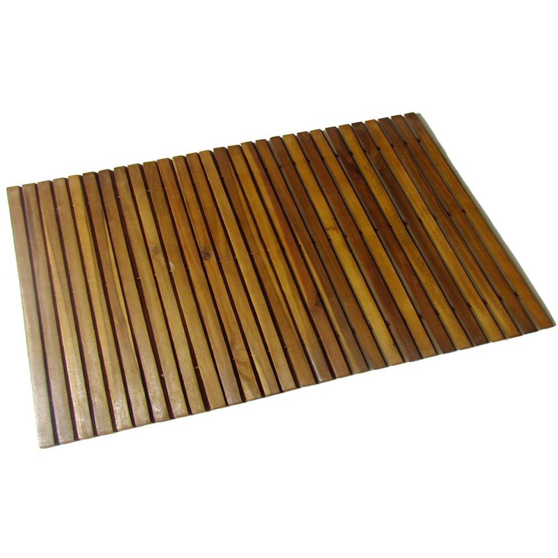badmat acaciahout 80 x 50 cm blokker. Black Bedroom Furniture Sets. Home Design Ideas