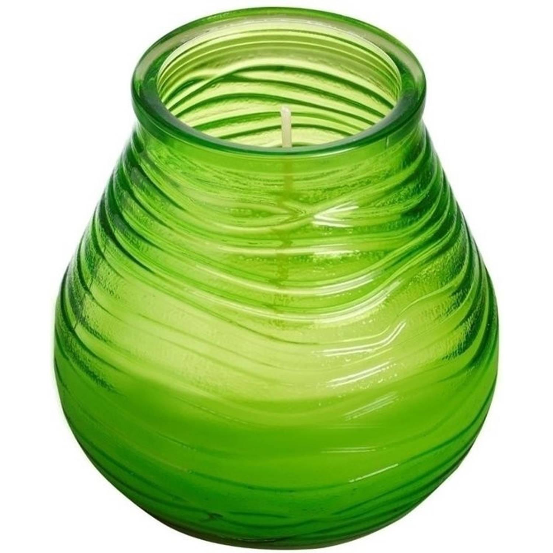 Bolsius Lowbois Windlichtkaars - Lime groen - 6 stuks