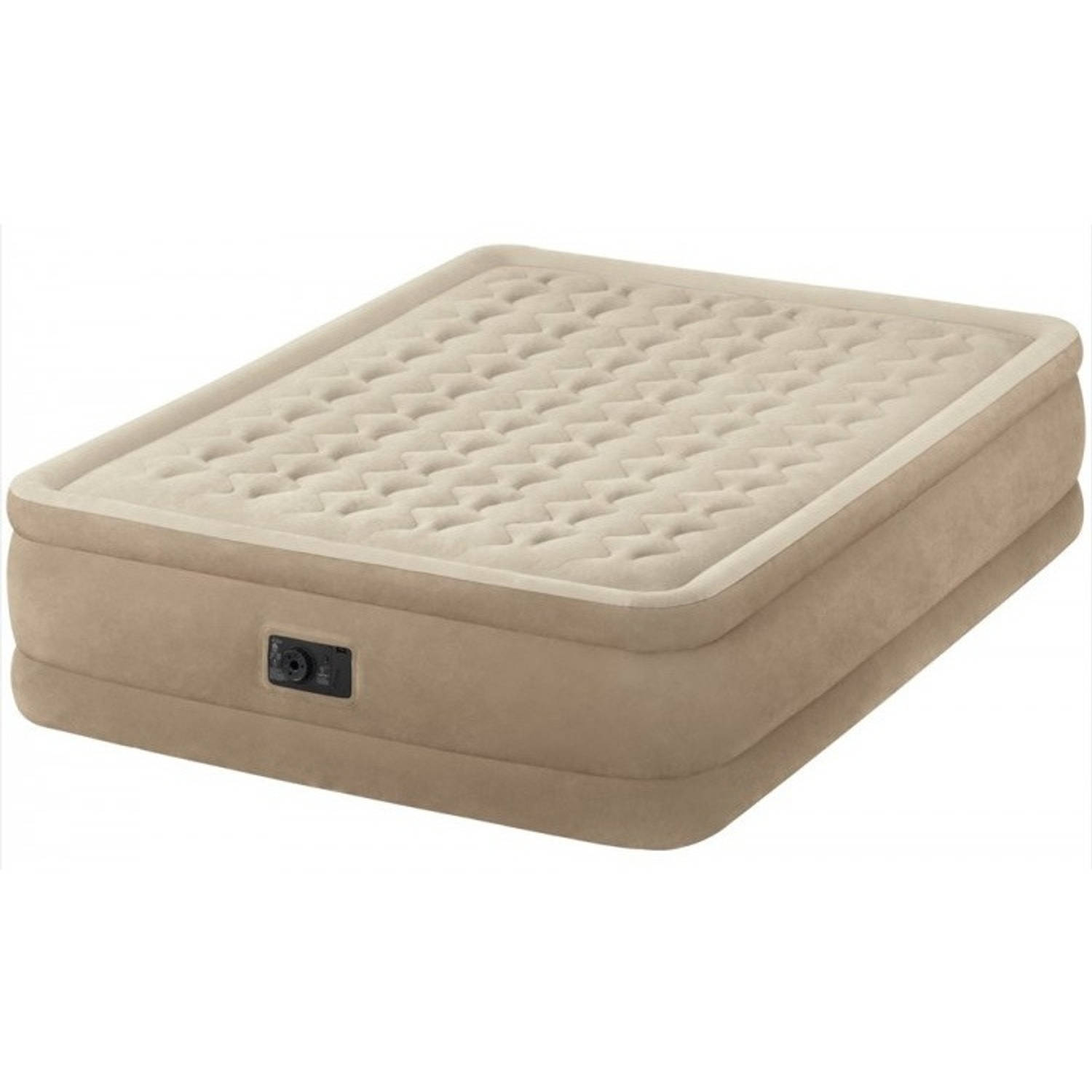 Intex luchtbed 2 persoons Ultra Plush beige 203 x 152 x 46 cm
