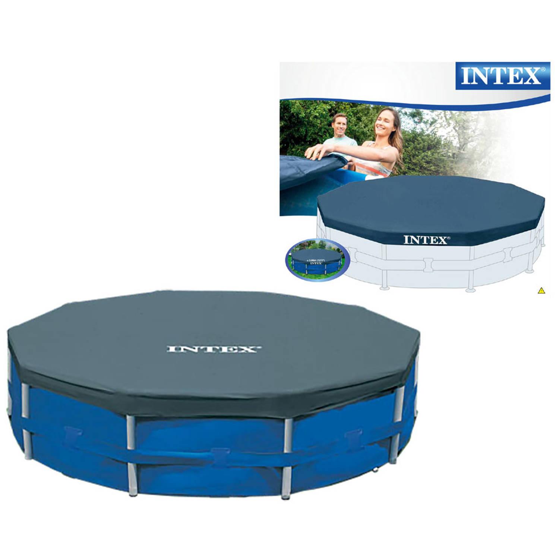 Intex metalen frame afdekhoes voor zwembad 366 cm blokker for Blokker zwembad