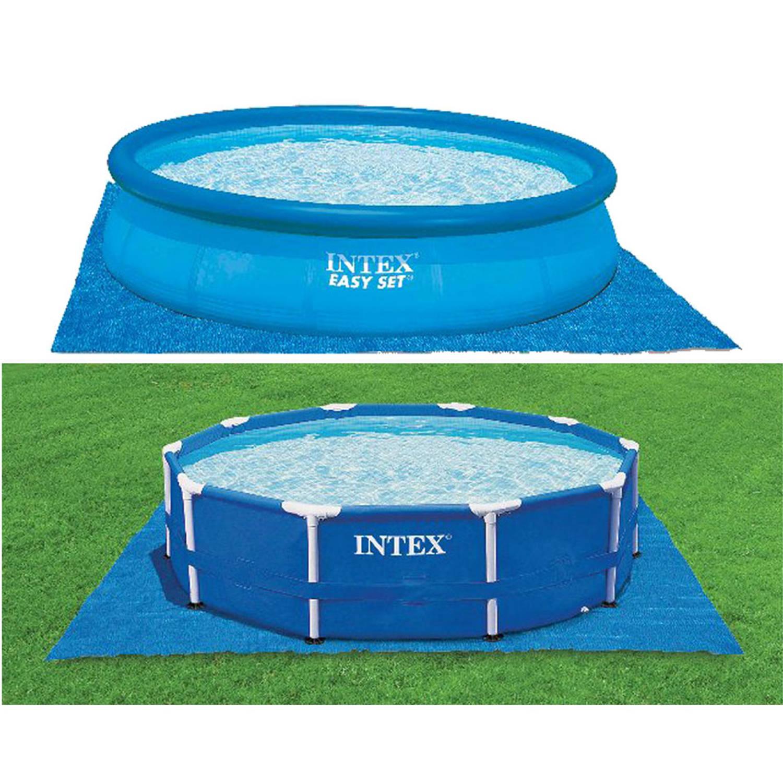 Intex zwembad grondzeil blokker for Blokker zwembad