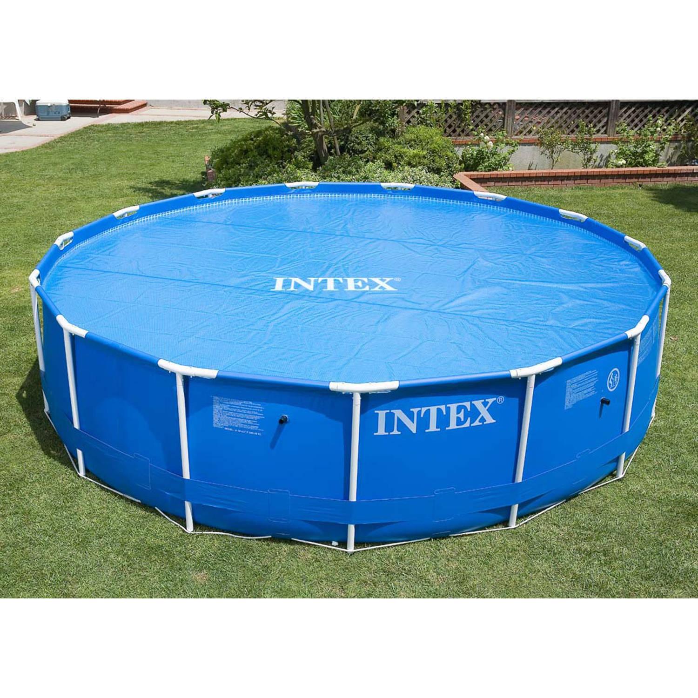 Intex zonne afdekhoes voor zwembad 244 cm blokker for Blokker zwembad
