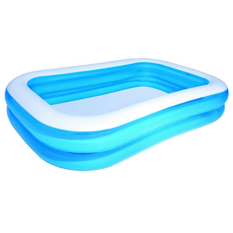 Bestway opblaasbaar zwembad 262 x 175 x 51 cm blauw wit for Blokker zwembad