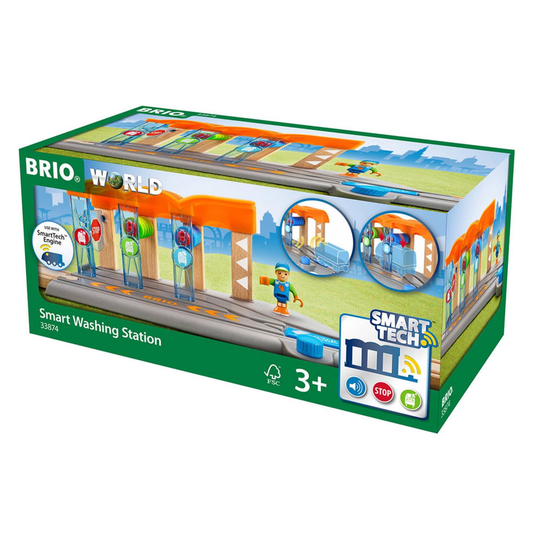 Brio ? WORLD Smart Tech Wasstation voor treinen.