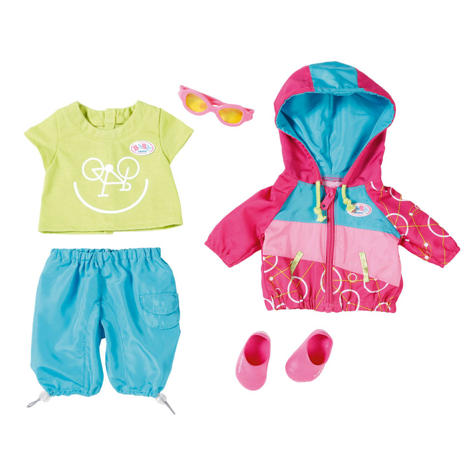 BABY BORN FIETS OUTFIT