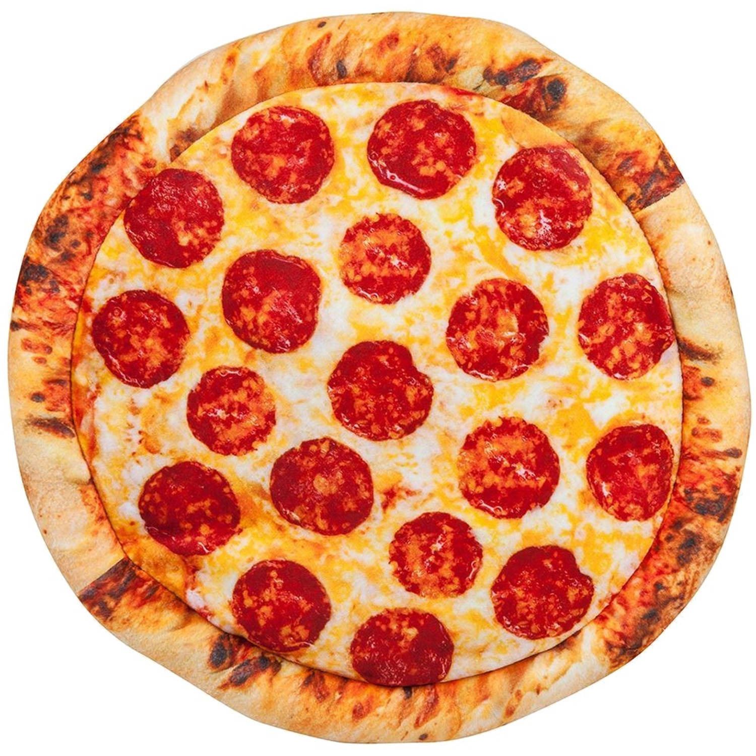 Out of the Blue pizza kussen pluche 30 cm