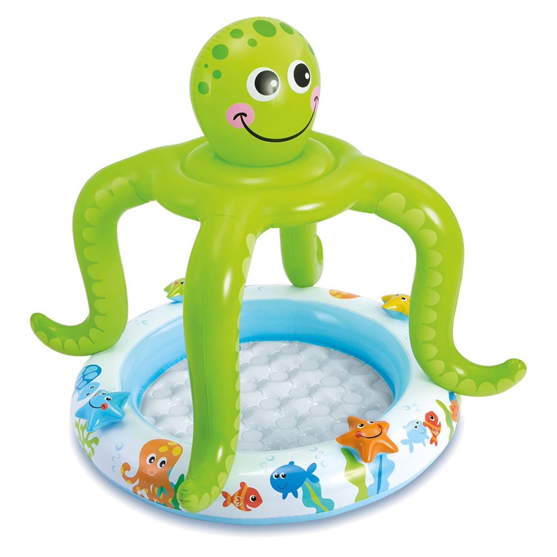 Intex Opblaasbaar Babybad Octopus 102 X 104 Cm Blokker