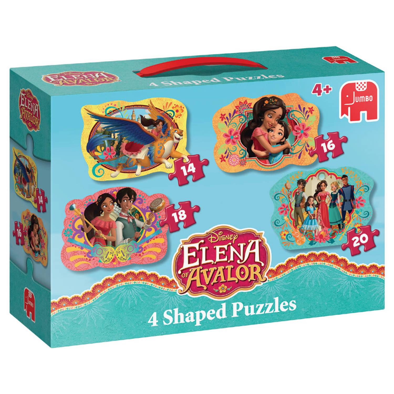 Jumbo Disney 4 Shaped Puzzles