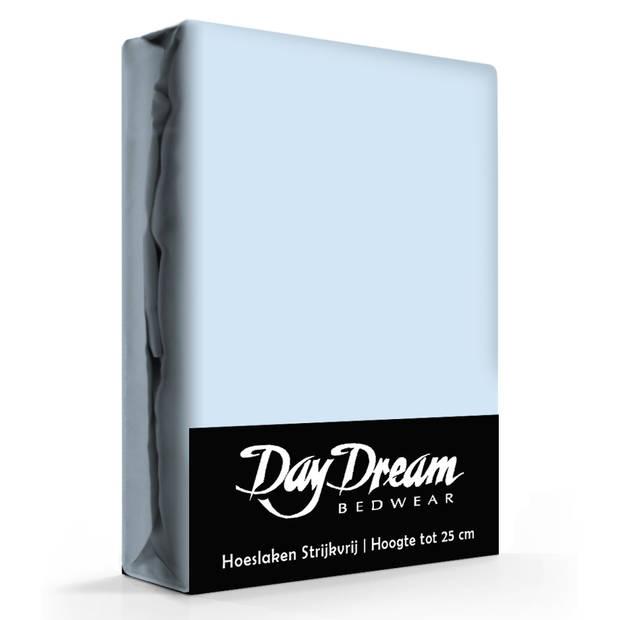 Day dream hoeslaken katoen licht blauw-180 x 200 cm